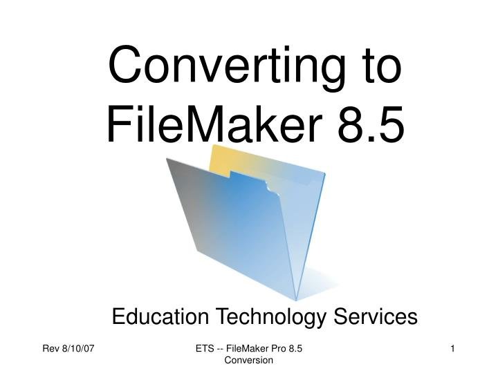 converting to filemaker 8 5 n.