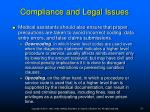 compliance and legal issues