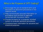 what is the purpose of cpt coding