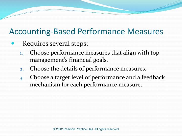 Accounting-Based Performance Measures