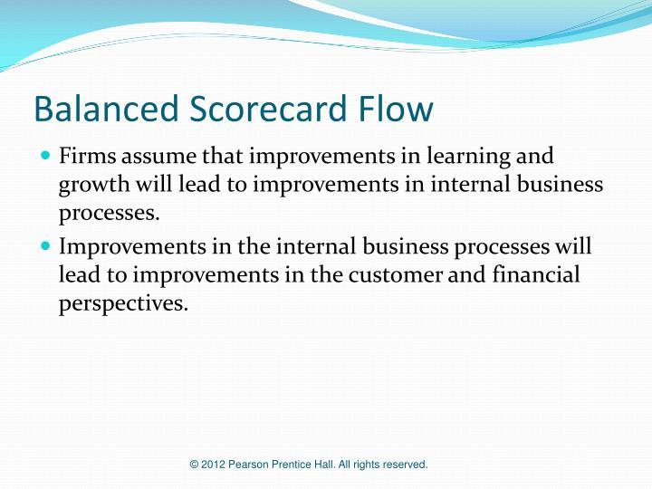 Balanced scorecard flow