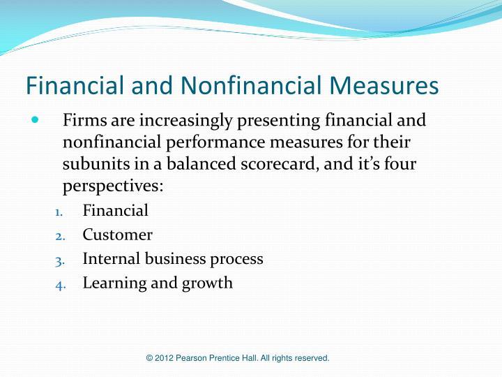 Financial and nonfinancial measures