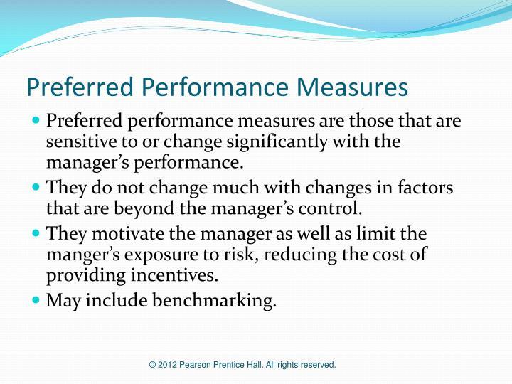 Preferred Performance Measures