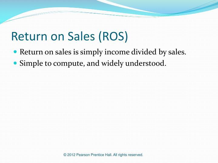 Return on Sales (ROS)
