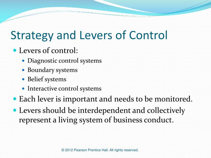 Strategy and Levers of Control