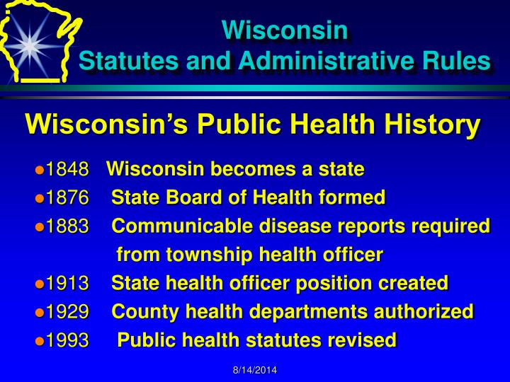 Wisconsin statutes and administrative rules2