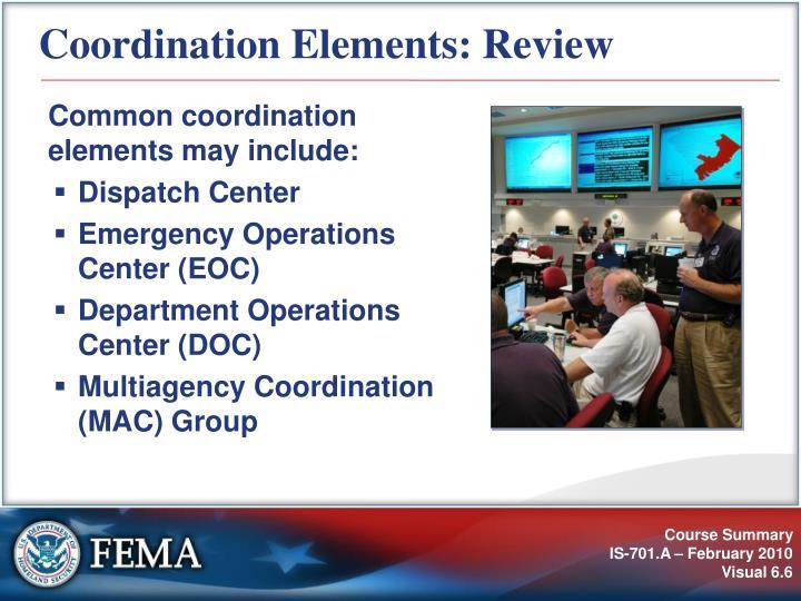 Coordination Elements: Review
