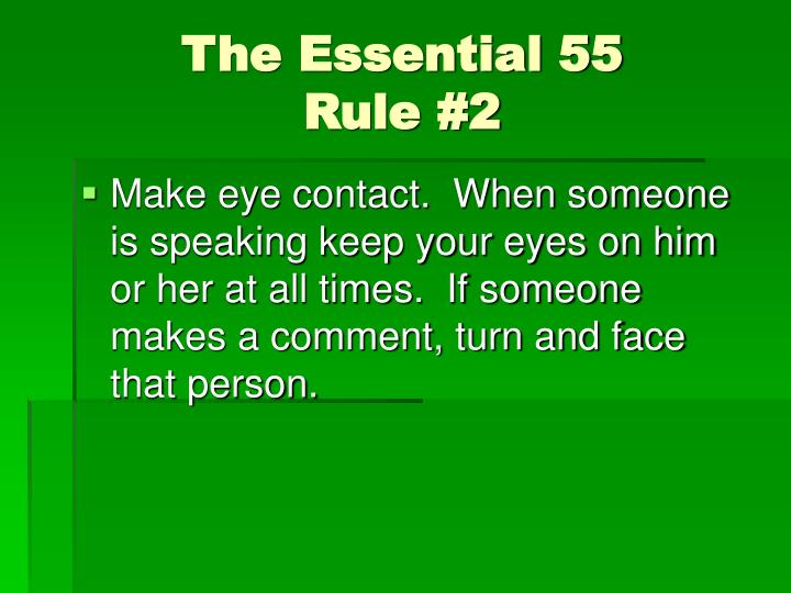 The essential 55 rule 2
