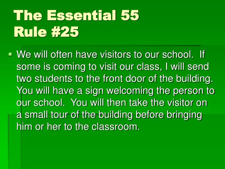 The Essential 55