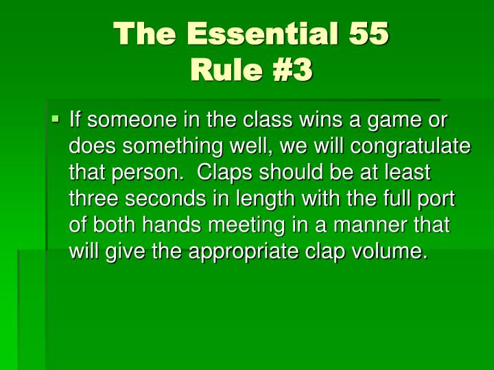 The essential 55 rule 3