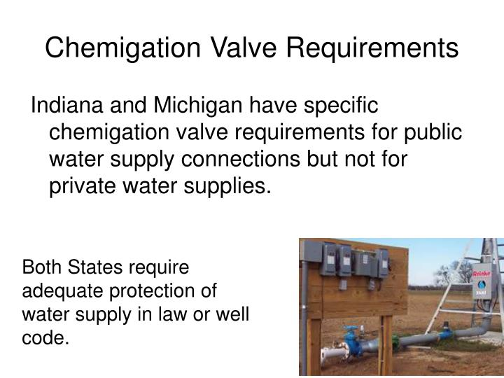 Chemigation Valve Requirements