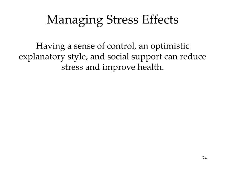 Managing Stress Effects