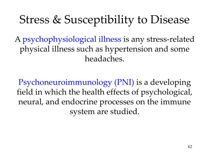 Stress & Susceptibility to Disease