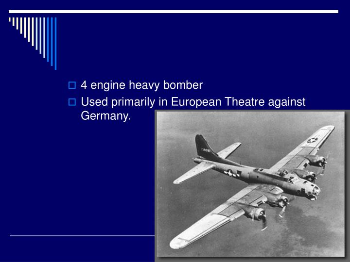 4 engine heavy bomber