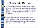 election of 1824 cont