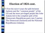 election of 1824 cont1