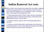 indian removal act cont