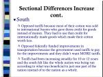 sectional differences increase cont
