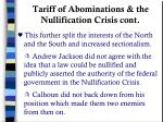 tariff of abominations the nullification crisis cont