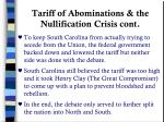 tariff of abominations the nullification crisis cont1
