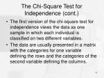 the chi square test for independence cont2