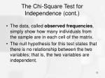 the chi square test for independence cont3