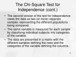the chi square test for independence cont4