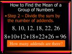 how to find the mean of a group of numbers1