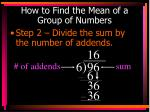 how to find the mean of a group of numbers2