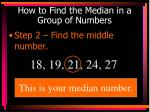 how to find the median in a group of numbers2