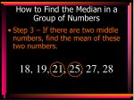 how to find the median in a group of numbers3
