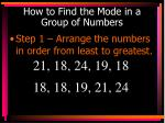 how to find the mode in a group of numbers