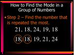how to find the mode in a group of numbers1