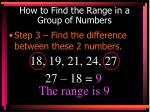 how to find the range in a group of numbers2