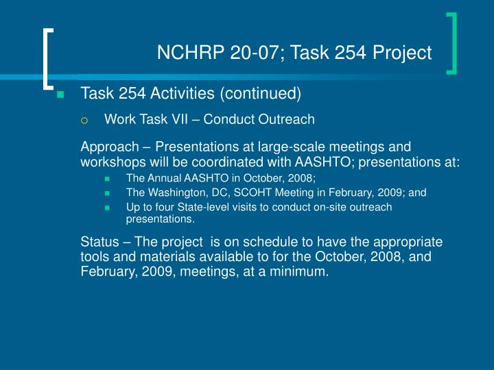 NCHRP 20-07; Task 254 Project