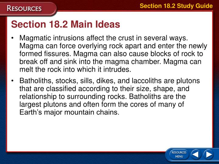 Section 18.2 Study Guide