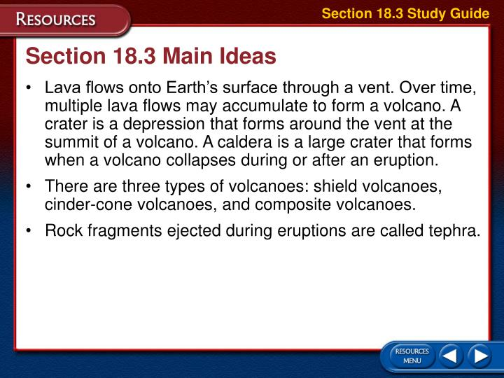 Section 18.3 Study Guide