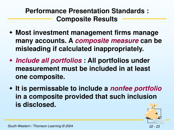 Performance Presentation Standards :