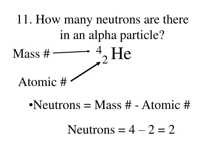 How many neutrons are there in an alpha particle?