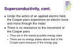 superconductivity cont