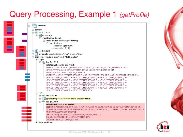 Query Processing, Example 1