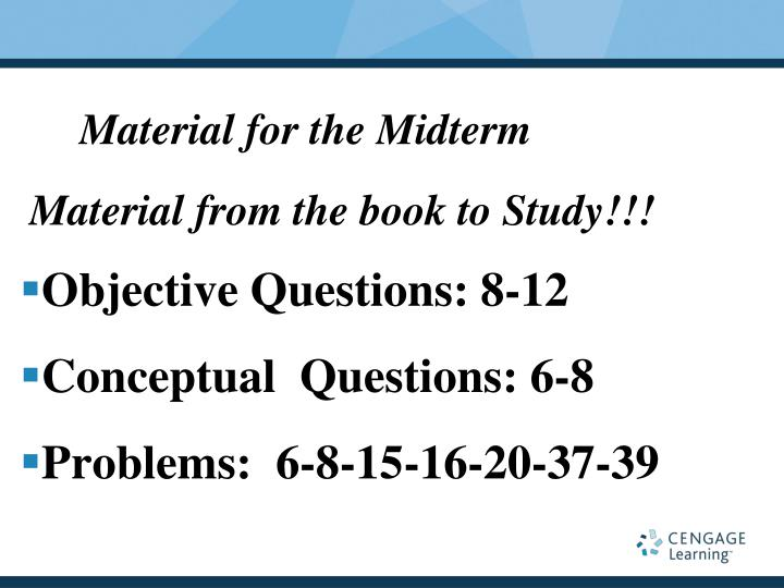 Material for the Midterm