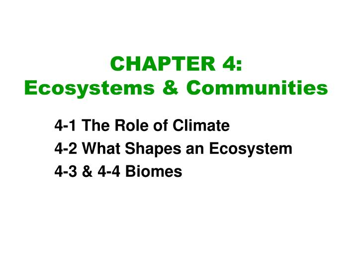 chapter 4 ecosystems communities n.