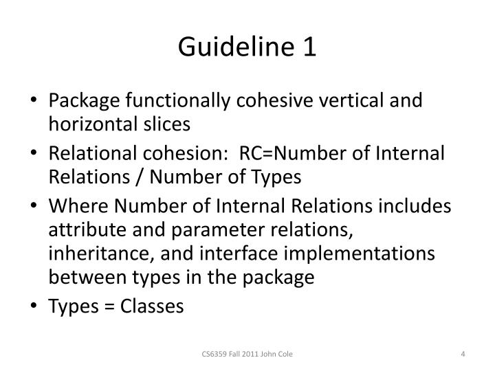 Guideline 1