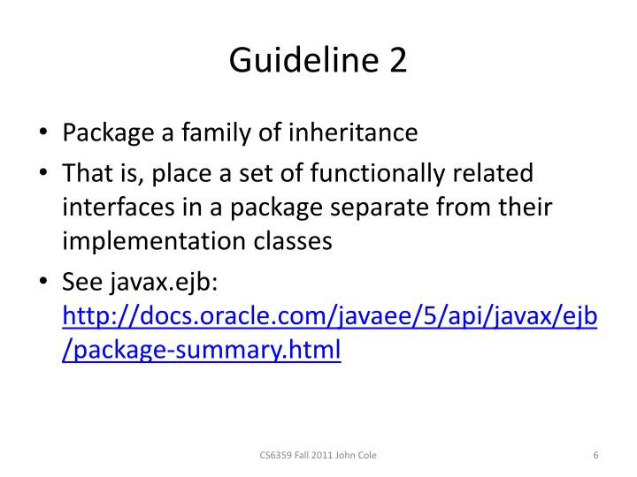 Guideline 2