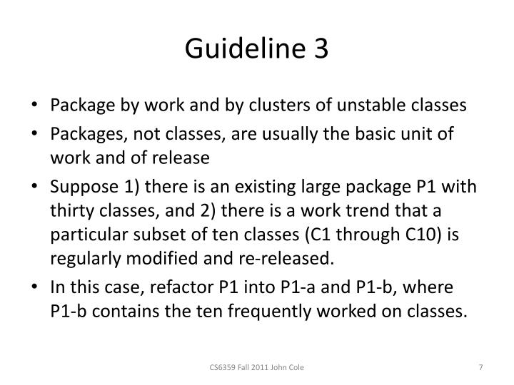 Guideline 3