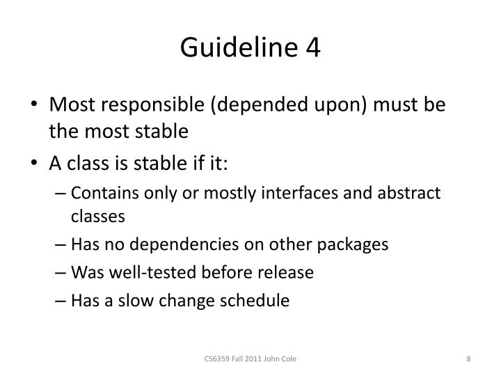 Guideline 4