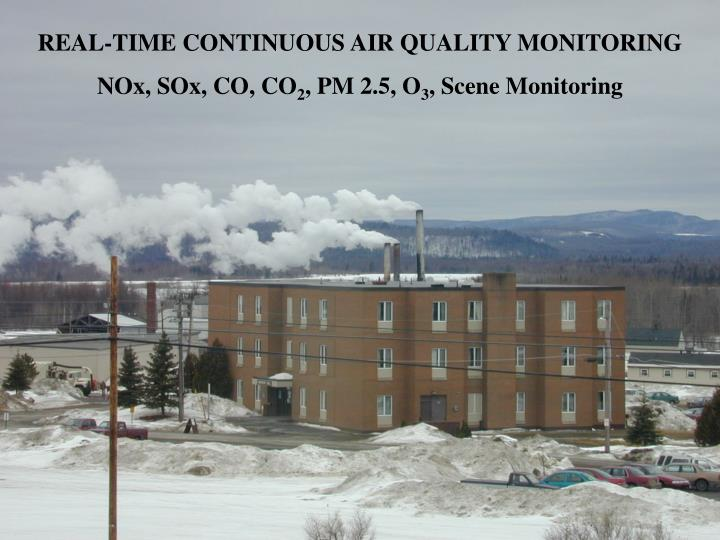 REAL-TIME CONTINUOUS AIR QUALITY MONITORING