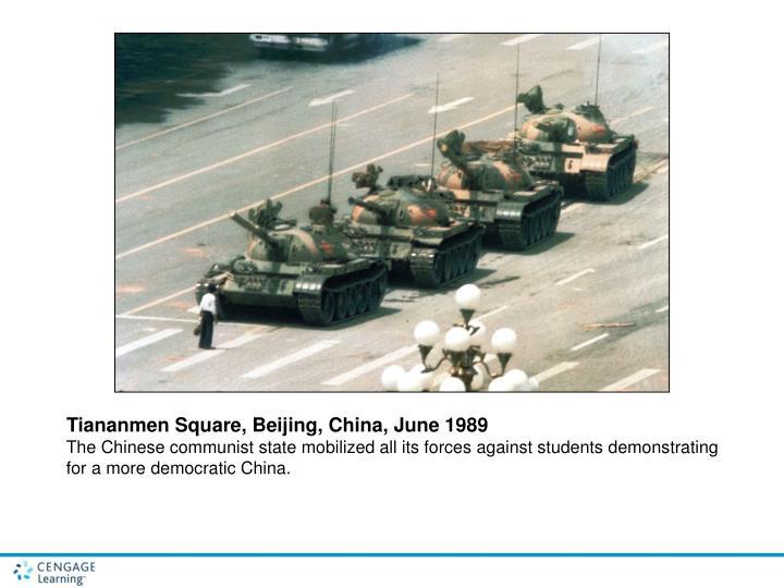 Tiananmen Square, Beijing, China, June 1989
