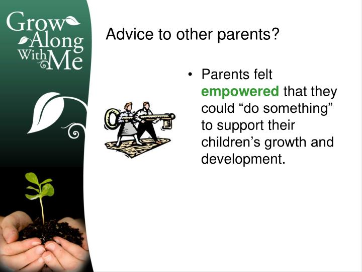 Parents felt